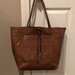 Kelly&kaitie brown leather like tote